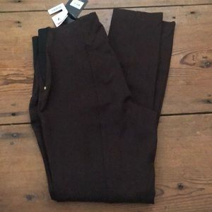 Brown Jones Dress pants with elastic waist